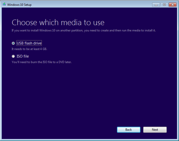 create a bootable usb for windows 10