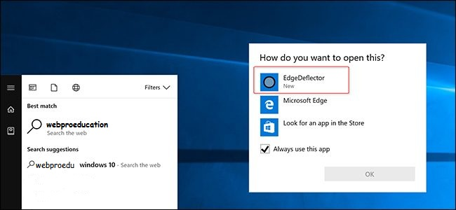 cortana to use default browser