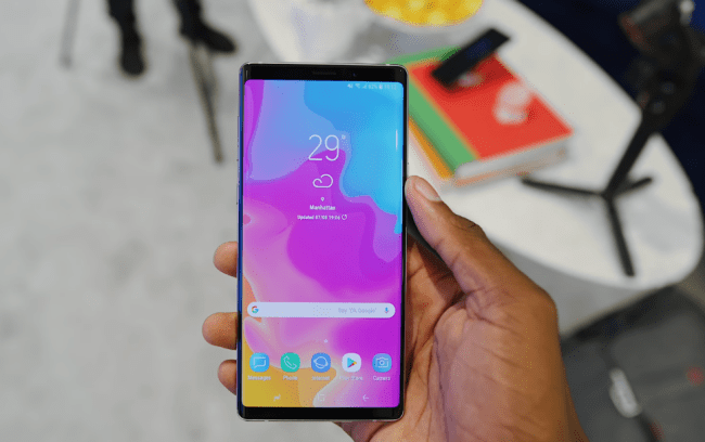 galaxy note 9 display