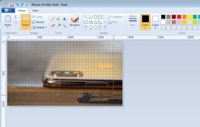 how to make a picture smaller in paint