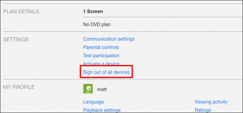 how to logout of Netflix