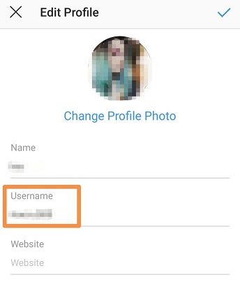 how to change your Instagram username