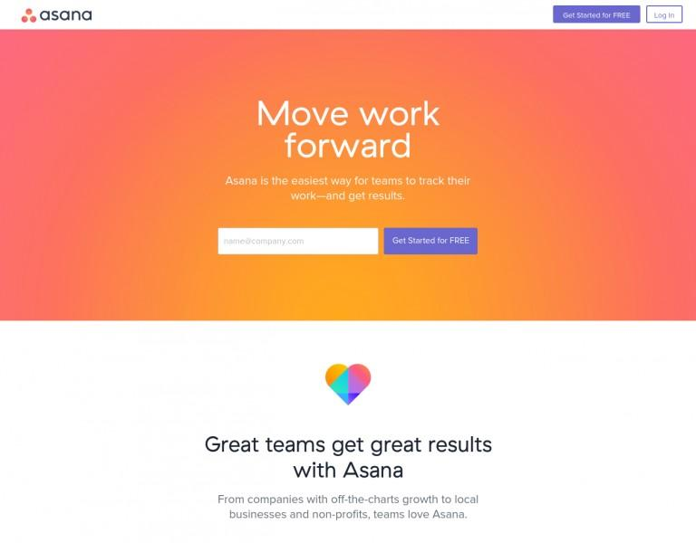 clean design for SaaS home page