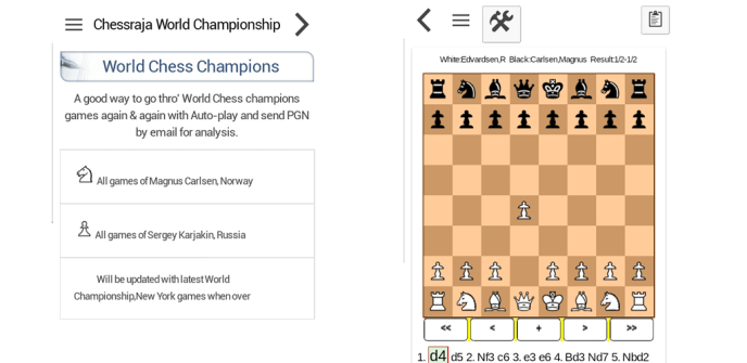 World Chess Champions app Carlsen and Karjakin