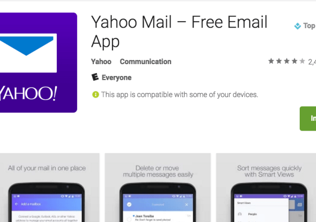 Yahoo Mail Mobile Apps Get New Features