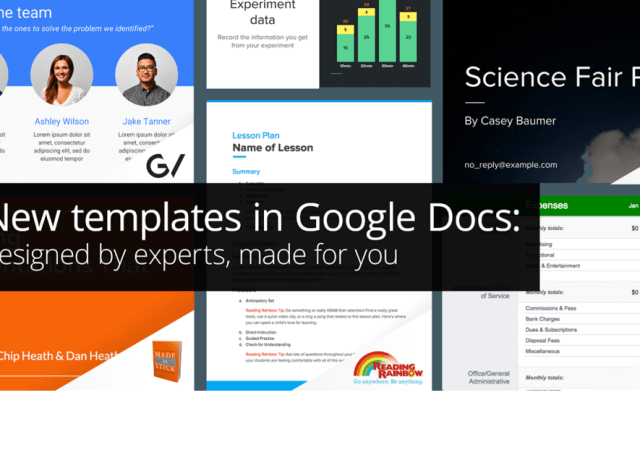 Google Sheets & Slides Get New Business Templates