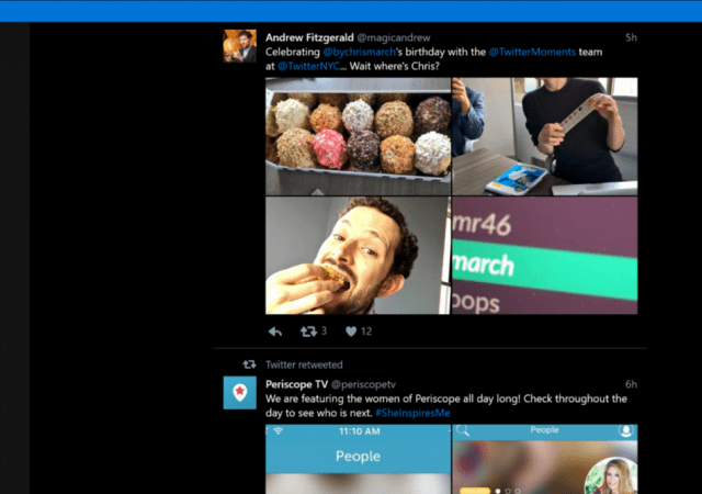Twitter for Windows 10 Goes Mobile