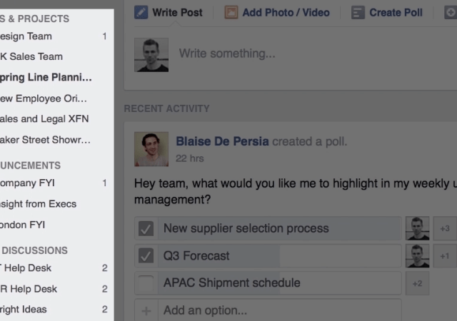 Workplace by Facebook Now Open to All Businesses