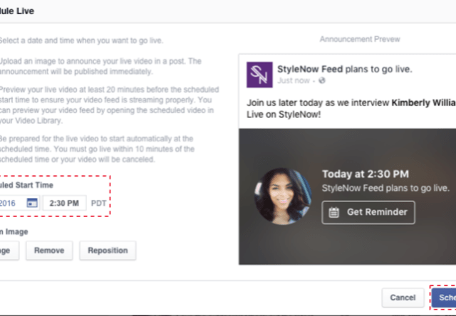 Facebook Adds Scheduling Feature to Live Videos