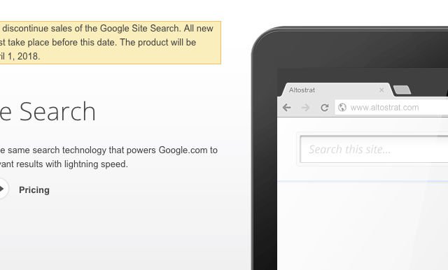 Google Site Search Being Phased Out