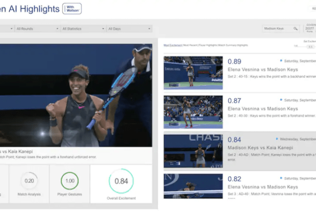 How IBM Watson AI Technology Was Used at the US Open