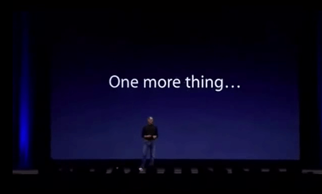Apple Never Trademarked 'One More Thing', Apparently