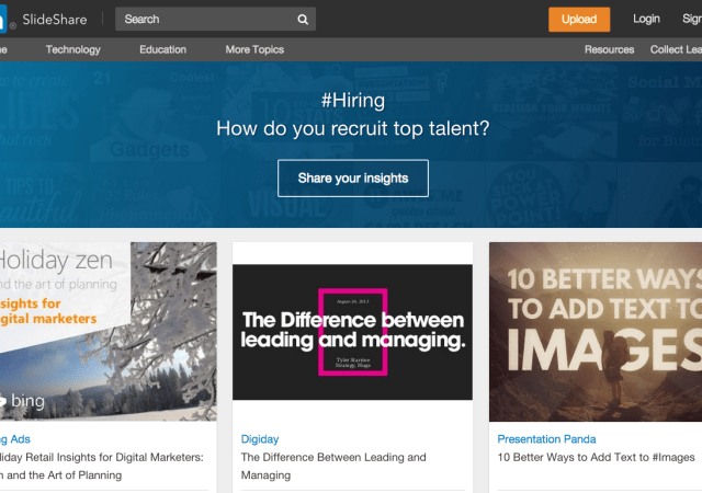 Slideshare Becomes 'LinkedIn Slideshare,' Adds Content Curation Tool