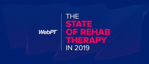 WebPT state of rehab logo and themed image