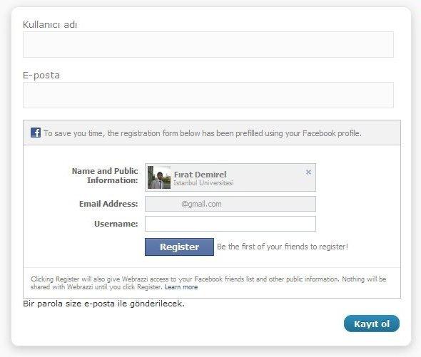 Wordpress Facebook Giriş