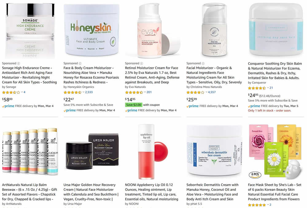 Search for soothing natural moisturizer for winter skin