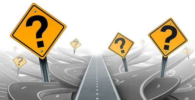 Roadsigns with question marks