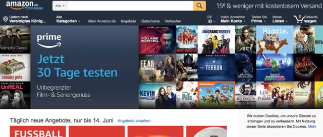 Amazon Germany screenshot