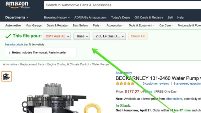 Amazon this fits your car fitment stripe