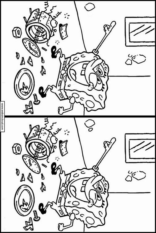 Printable Worksheet Spot The Differences Spongebob 53