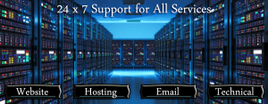 24x7 website support banner