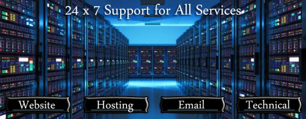 24x7 website support banner