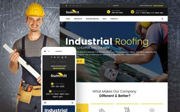 Construction Website Design Image