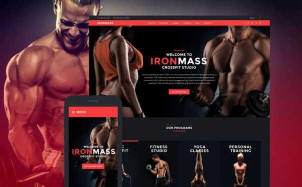 Sports Website Design Image
