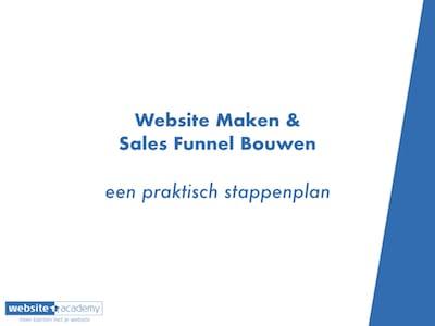Website Maken Sales Funnel Bouwen Een Praktisch Stappenplan