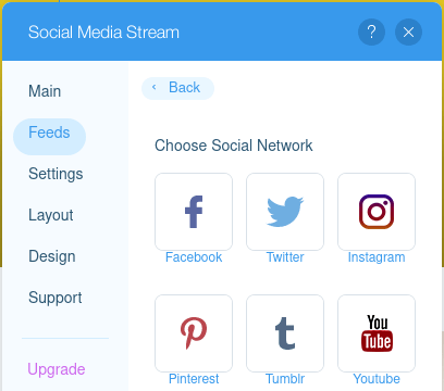 ix Editor Add Social Accounts