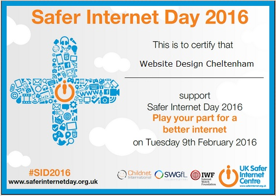 Website Design in Cheltenham supports Safer Internet Day 2016