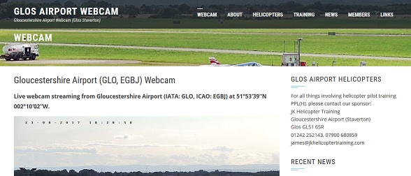 The Gloucestershire Airport Webcam site has gone live.