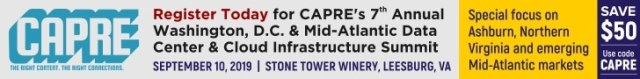 CAPRE's Data Center Round Up for Aug 27, 2019 2