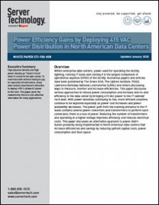 Exploring the Potential of 415 VAC Power Distribution in Data Centers to Boost Power Efficiency