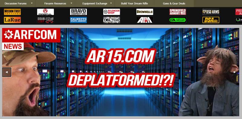 GoDaddy explains AR15 .com boot