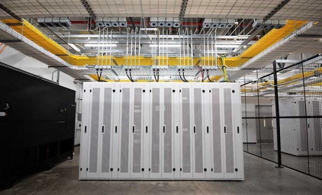 The network meet-me room inside the NTT Global Data Centers Americas facility in Hillsboro, Oregon. (Photo: NTT)
