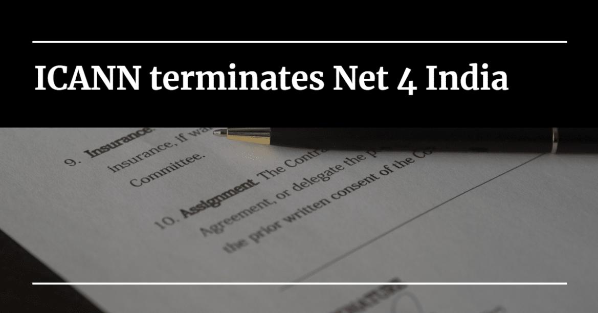 ICANN terminates Net 4 India