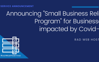 Rad Web Hosting Announces Small Business Assistance for Businesses Impacted by COVID-19 1