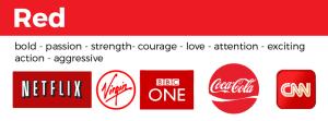 examples of red logos netflix virgin bbc coca-cola CNN