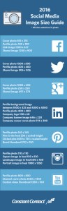 2016 Social Media Image Size Cheat Sheet y Constant Contact
