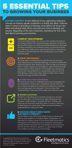 5 Essential Tips to growing your business infographic