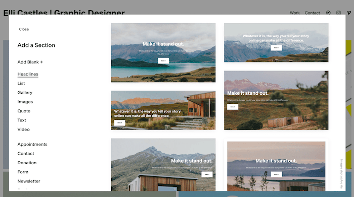 squarespace projects