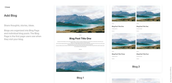 squarespace blog layouts