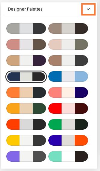 squarespace color palettes