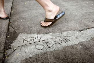 Kkng Obama sidewalk