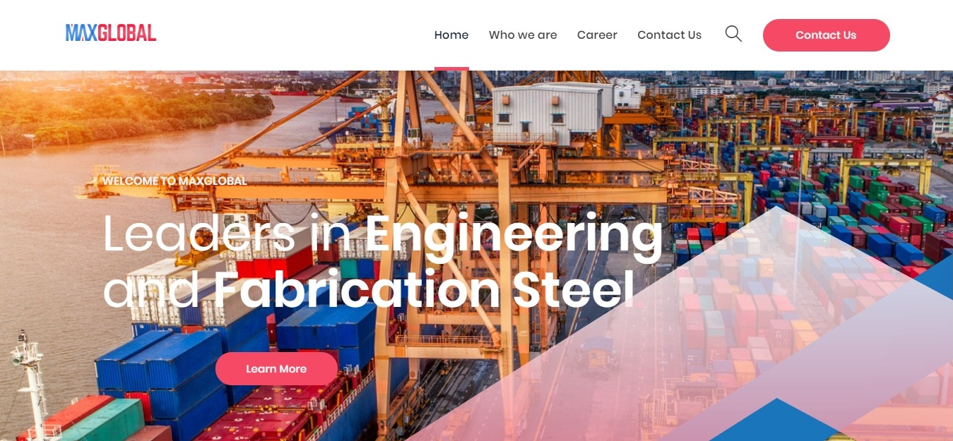 maxglobal steel engineering website