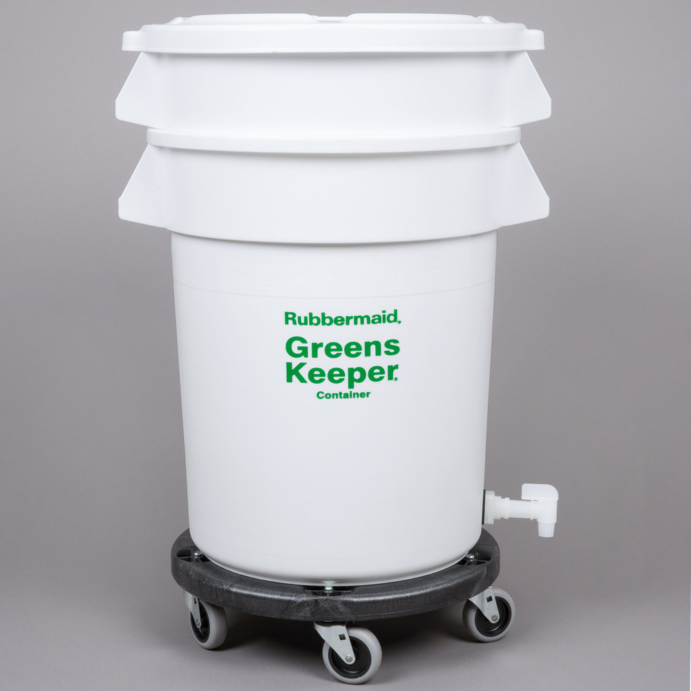 Rubbermaid FG262400WHT Brute GreensKeeper 20 Gallon