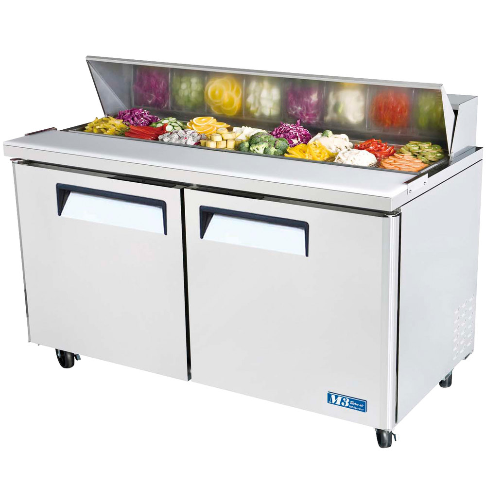 Turbo Air MST 60 60 M3 Series Two Door Refrigerated Salad
