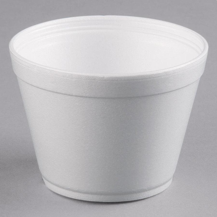 Dart 16MJ32 16 Oz Squat White Foam Bowl 25Pack
