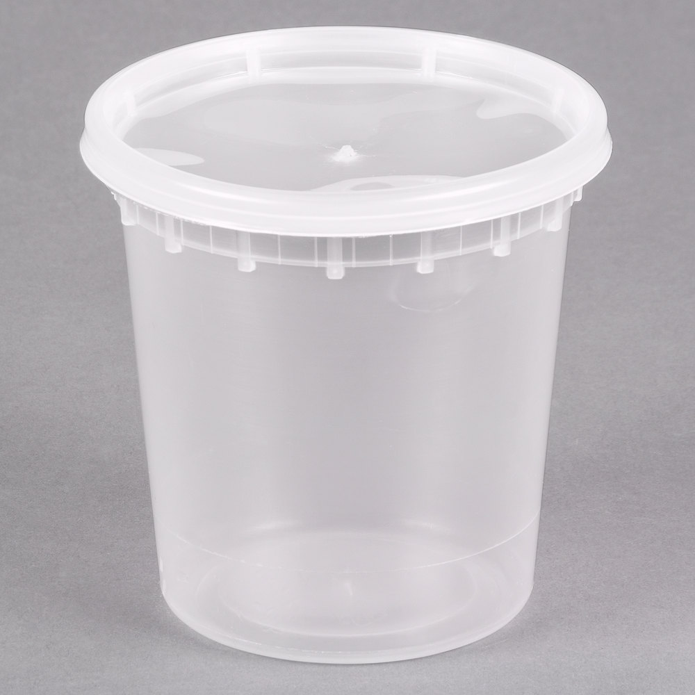 24 Oz Microwavable Translucent Plastic Deli Container